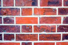 Detail of a red brickwall Royalty Free Stock Photography