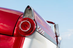 Detail of red cabriolet vintage car Royalty Free Stock Photos