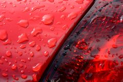 Detail of red car Royalty Free Stock Photos