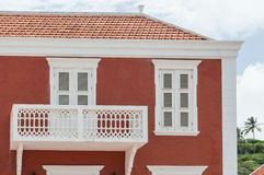 Detail of a Red colonial style house Stock Photography
