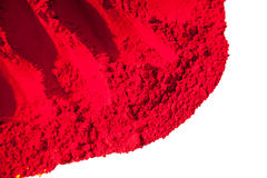 Detail of red color for holi Stock Photo