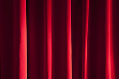 Detail of red curtain Stock Photos