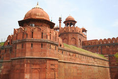 Detail of the Red Fort. New Delhi, India. Stock Photo