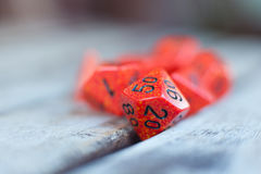 Detail of red hundreds percentage dice Royalty Free Stock Image