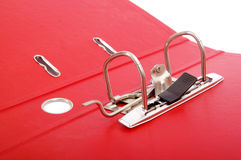 Detail of red office folder Royalty Free Stock Photos