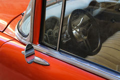 Detail of Red oldtimer car royalty free stock photo