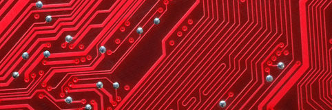 Detail red Printed Circuit Board Royalty Free Stock Image