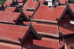 Detail of the red roof Stock Images