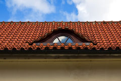 Detail of red tiled roof Stock Photos