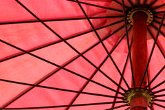 Detail of red umbrella, abstract background Royalty Free Stock Photos
