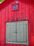 Detail of a red wooden house Royalty Free Stock Image