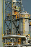 Detail of a refinery. This refinery is located in East Montreal, canada. Lens: Sigma 70-200 2.8 EX APO HSM stock photo
