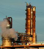 Detail of a refinery 13. This refinery is located in East Montreal. Lens: Sigma 70-200 2.8 EX APO HSM Stock Images