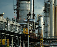 Detail of a refinery 5. This refinery is located in East Montreal. Lens: Sigma 70-200 2.8 EX APO HSM royalty free stock photos