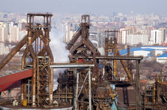 Detail of a refinery Royalty Free Stock Photo
