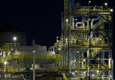 Detail of a refinery at night 2 Stock Image