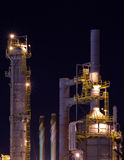 Detail of a refinery at night 5 Royalty Free Stock Images