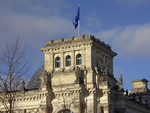 Detail of reichstag building, berlin Stock Photo