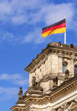 Detail of The Reichstag, the German Parliament. In Berlin, Germany Royalty Free Stock Photography