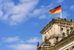 Detail of The Reichstag, the German Parliament. In Berlin, Germany Stock Photo