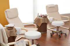 Detail of relaxation treatment room Royalty Free Stock Images