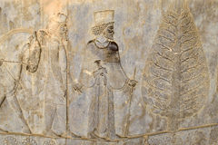 Detail of a relief in Persepolis in Iran Royalty Free Stock Photos