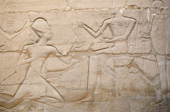 Detail of relief  in the Precinct of Amun-Re  (Karnak Temple Complex, Luxor, Egypt) Stock Photography