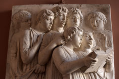 Detail of relief singing tribune in the Cathedral of Santa Maria del Fiore Stock Photos