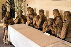 Detail of a religious scene Last Supper Stock Images