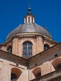 The Renaissance brick dome of the cathedral of Urbino, Italy. Royalty Free Stock Photo
