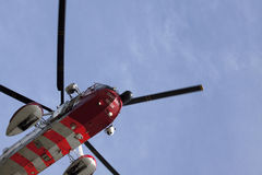 Detail of a rescue helicopter Stock Images
