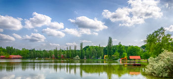 A detail of the resort area of Nyiregyhaza-Sosto in Hungary Royalty Free Stock Photography