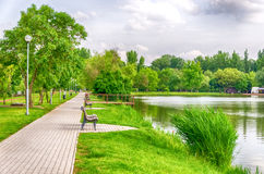 A detail of the resort area of Nyiregyhaza-Sosto in Hungary. Stock Images