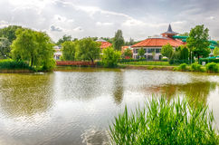 A detail of the resort area of Nyiregyhaza-Sosto in Hungary. Royalty Free Stock Photo