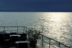 Detail of restaurant at Lake Balaton, Hungary Royalty Free Stock Photos