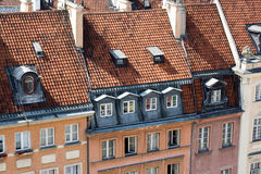 Detail of the restored old houses in the Warsaw Royalty Free Stock Photos
