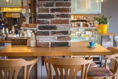Detail of a retro restaurant interior Royalty Free Stock Photography