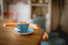 Detail of a retro restaurant interior, cup of cofe Royalty Free Stock Photo