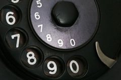 Detail from retro telephone Stock Photos