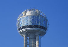Detail of Reunion Tower in Dallas, TX Stock Images