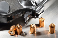 Detail of revolver Stock Photography