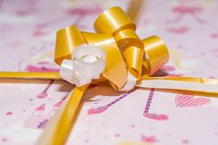 Detail of a gift wrap stock photos