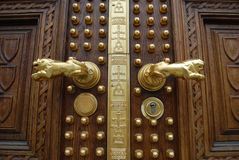 Detail of rich decorated door Royalty Free Stock Image