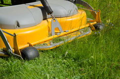 Detail of a riding lawn-mower Stock Image