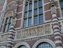 A detail of the Rijksmuseum in Amsterdam Stock Photos