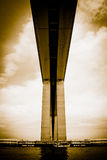 Detail of the Rio-Niteroi bridge. From a boat on the Guanabara bay in Rio de Janeiro, Brazil Stock Photography