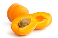 Detail of a ripe apricot Stock Images