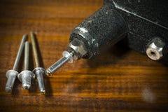 Detail of a Rivet Gun - Hand Riveter Royalty Free Stock Image