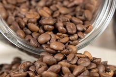 Detail of roasted coffee beans Royalty Free Stock Images