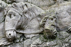 Detail of the rock relief - Arrival of the Magi Royalty Free Stock Photo